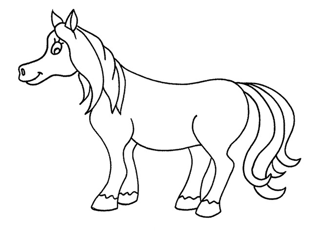 650x481 Horse Template