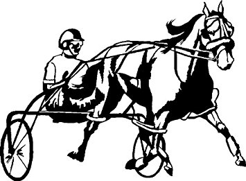355x261 Harness Racing Horse Decal