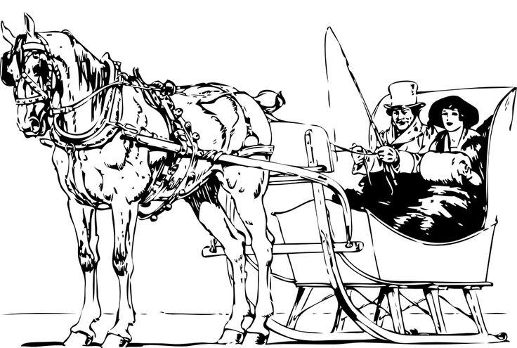 736x495 Horse Drawn Carriage Clipart Horse Sleigh