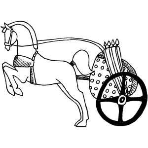 300x300 Horses Amp Chariots Coloring Pages