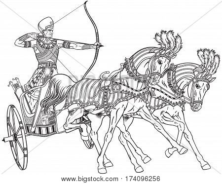 450x373 Ancient Egypt Two Wheeled Chariot Vector Amp Photo Bigstock