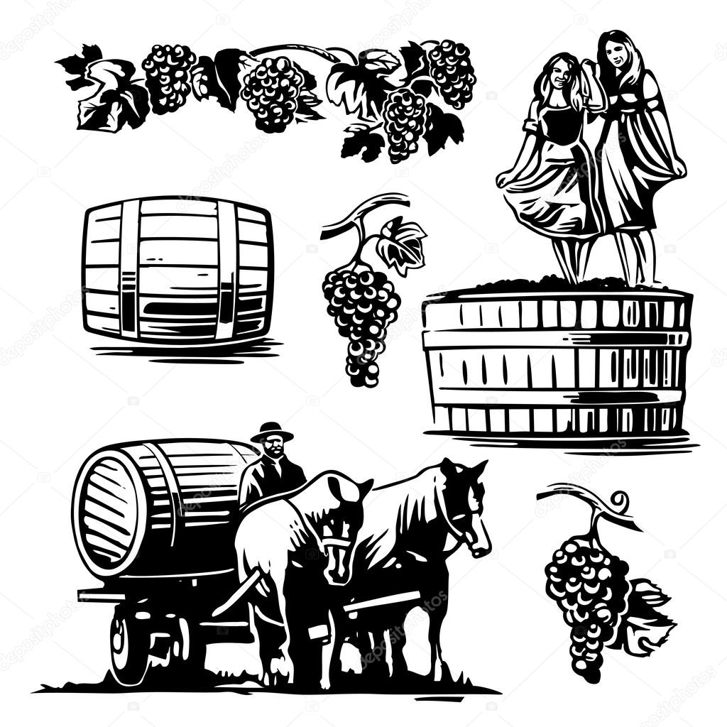 1024x1024 Women Dancing In A Barrel With Grapes And Charioteer On The Cart