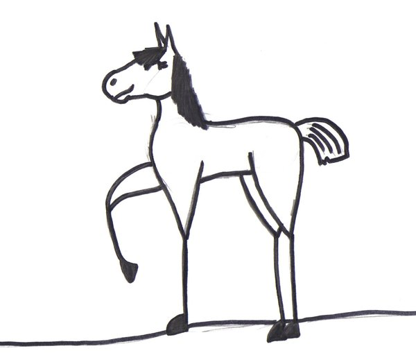 600x522 Skinny Cartoon Horse By Lady Jenir