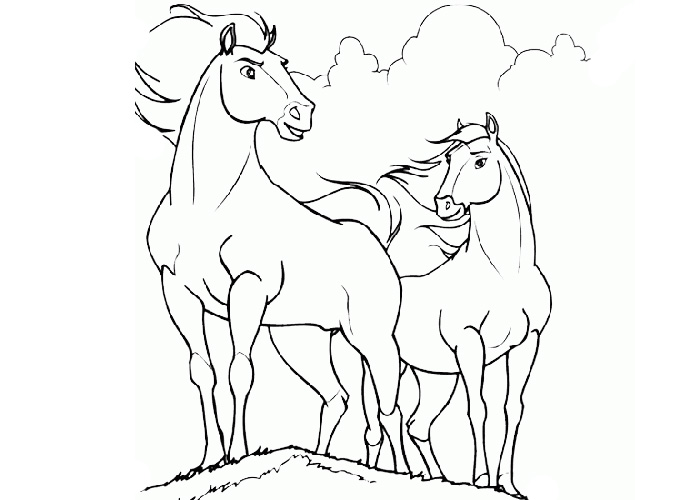 700x500 Cartoon Horse Coloring Pages