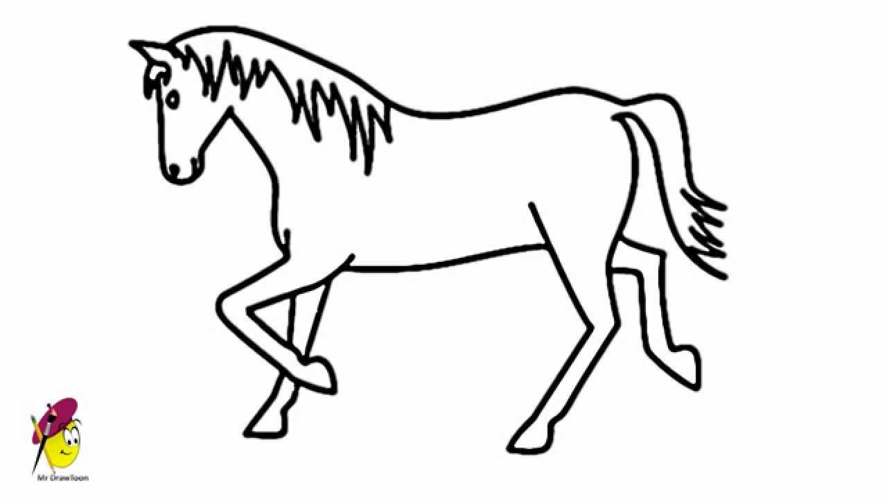 1280x720 Cartoon Horse Drawing Horse