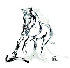 236x229 Horse Art Print The Immortal Charcoal Drawing By Artall On Etsy