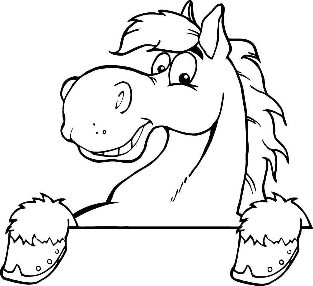 1006x921 Cartoon Horse Drawing Cartoon Drawings Horses