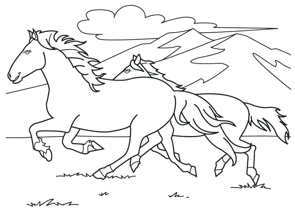 970x728 Horses Coloring Book And Horse Color Pages Horse Lovers Coloring