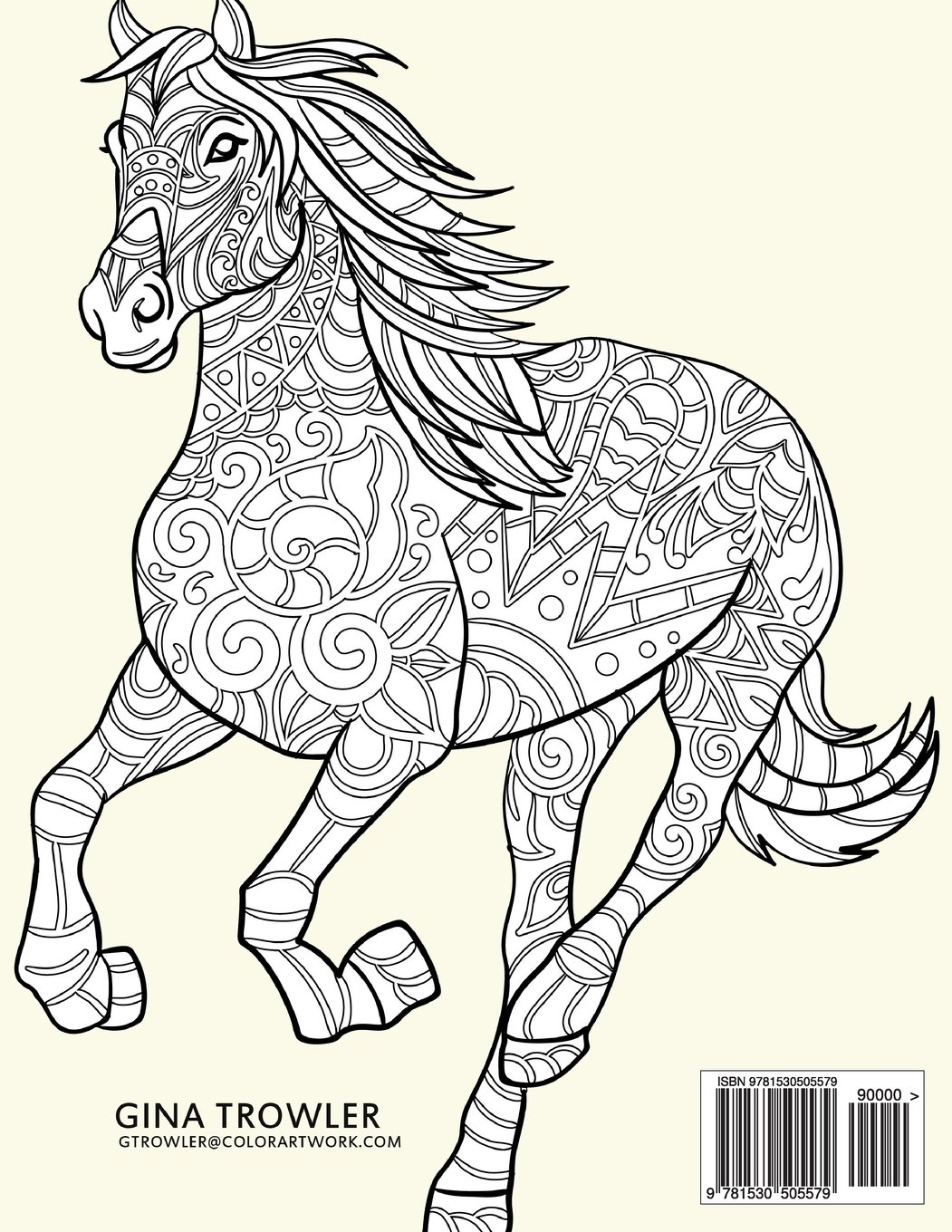1051x1360 Horse Coloring Book Coloring Stress Relief Patterns