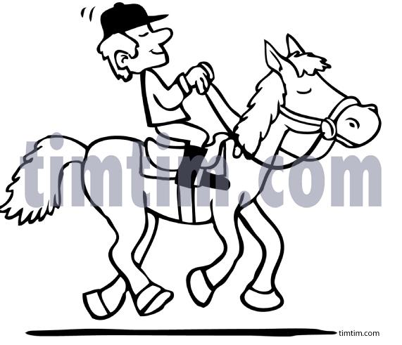 571x491 Drawn Horse Horseback