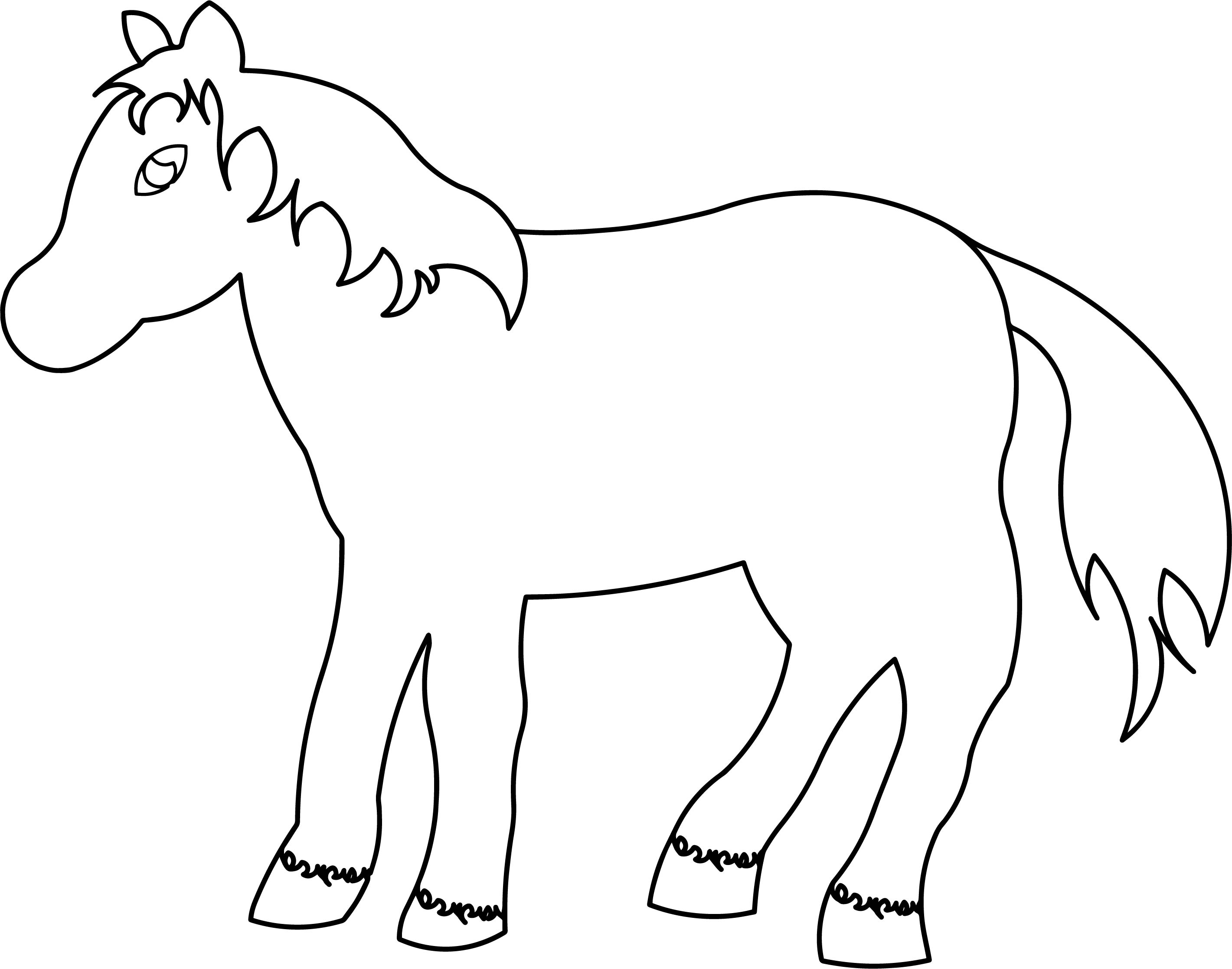 2841x2236 Horse Cartoon Coloring Page Wecoloringpage