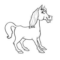 200x200 How To Draw A Cartoon Horse