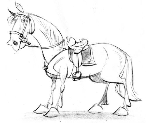 500x422 The Best Horse Cartoon Drawing Ideas On Easy