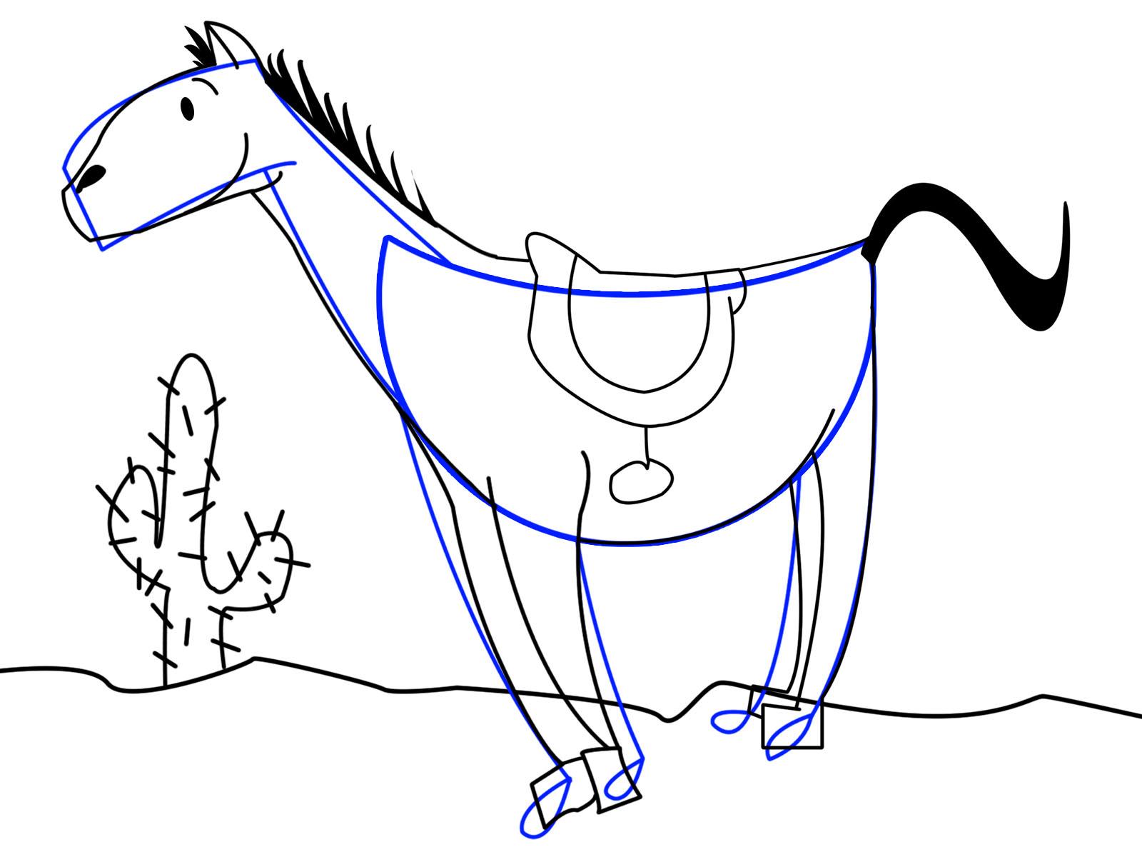 1600x1200 Cartoon Drawings Of Horses