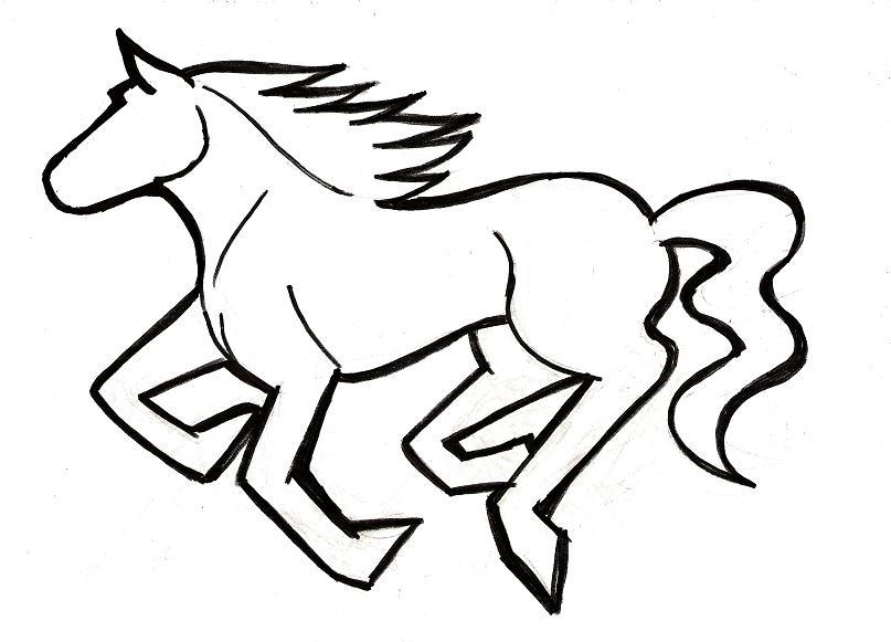 807x581 How To Draw A Mustang Horse Group