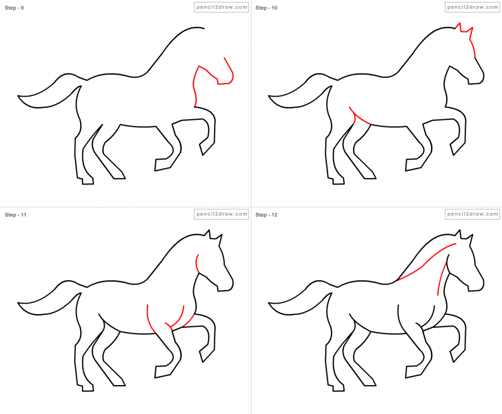 1024x845 Horse Drawing For Kids How To Draw Horse For Kids Step Step 1389