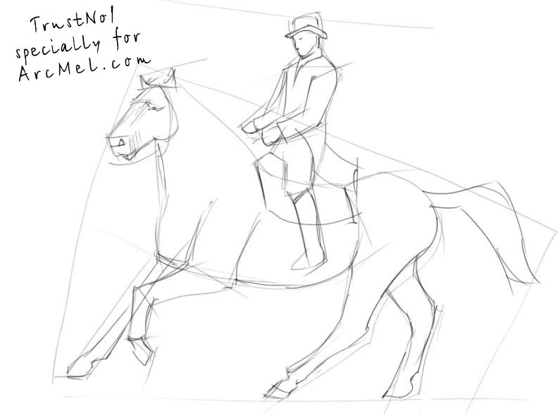 792x590 How To Draw A Rider Step By Step