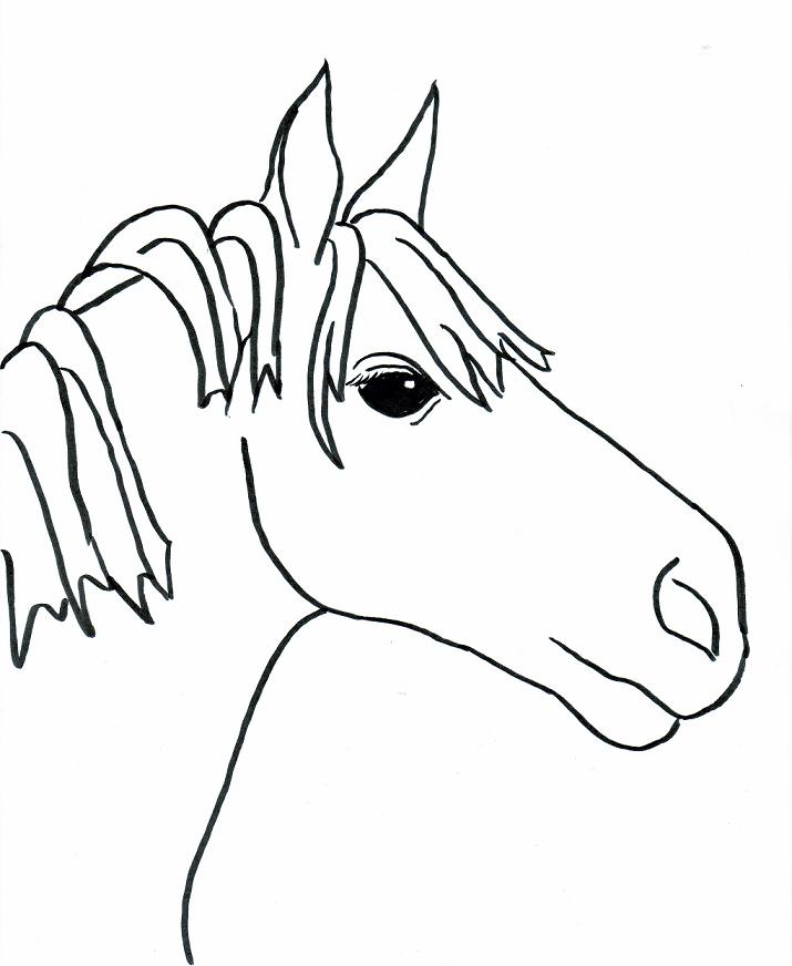 715x872 Stunning Inspiration Ideas Horse Drawing For Kids Easy Horse