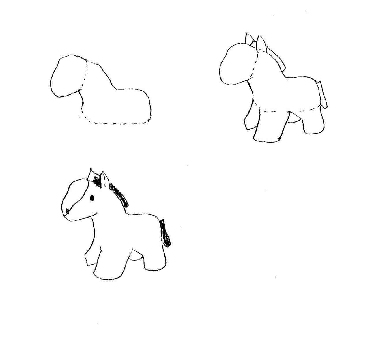 1341x1168 By Step To Draw A Horse Head S With Pictures Wikihow In Pencil