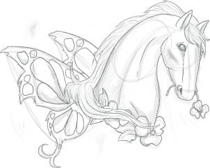 302x242 How To Draw A Pretty Horse Tattoo Step 6 Art