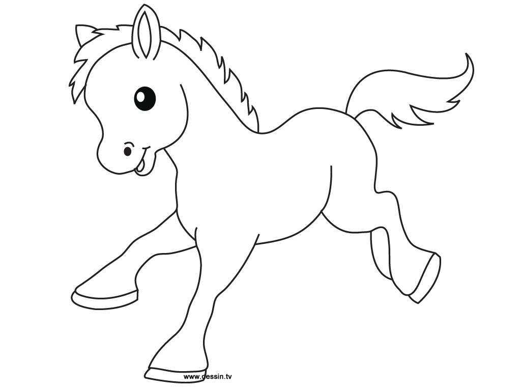 1024x768 Horse Drawing For Kids