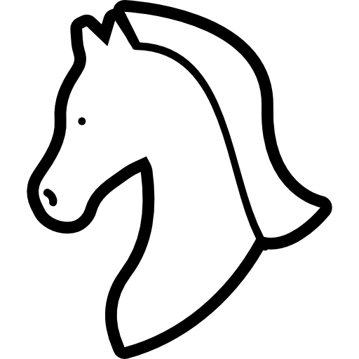 512x512 Horse Drawing, Head, Animals, Horse Head, Horse, Horse Variant