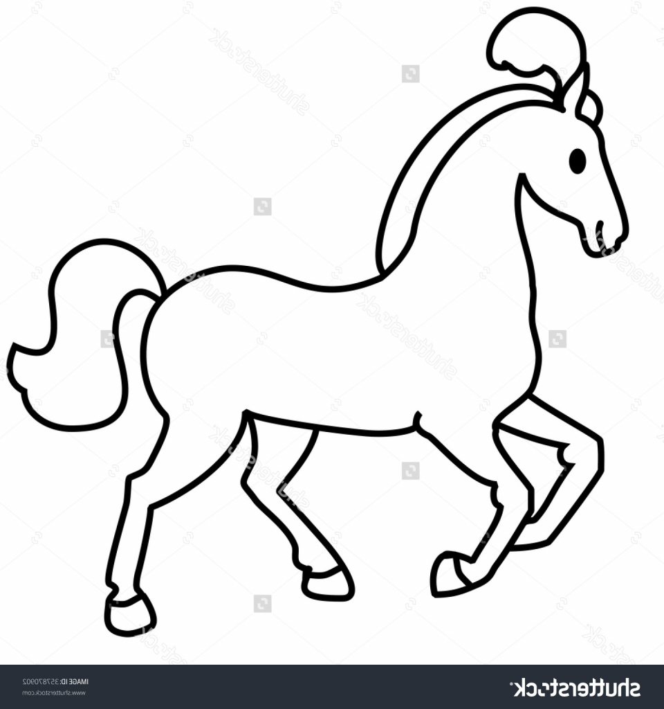 960x1024 Simple Line Drawing Of A Horse Simple Horse Drawing