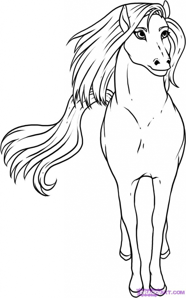 639x1024 Horse Drawing For Kids How To Draw A Simple Horse Step Step Farm