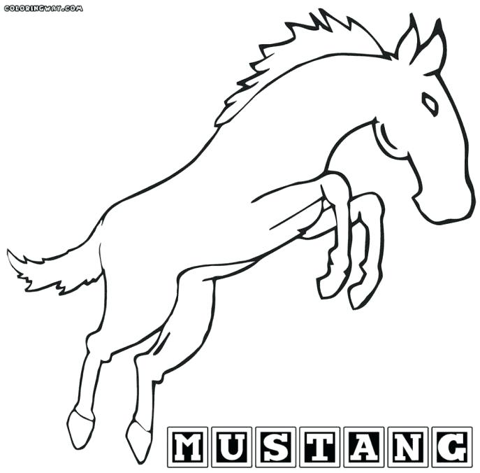 687x676 mustang horse coloring pages simple horse drawings for kids images