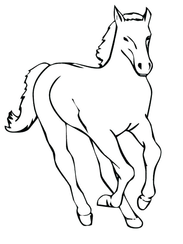 615x820 Printable Race Horse Coloring Pages Free For Kids Best P Medium