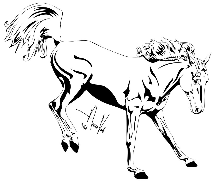 900x758 Horse Outline