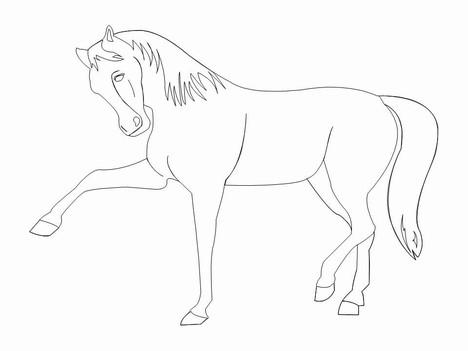 468x351 Horse Outlines Template
