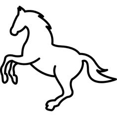 236x236 Free Horse Clip Art Image Outline Drawing Of A Horse (A