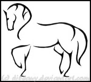 300x269 Horse Head Outline Drawings