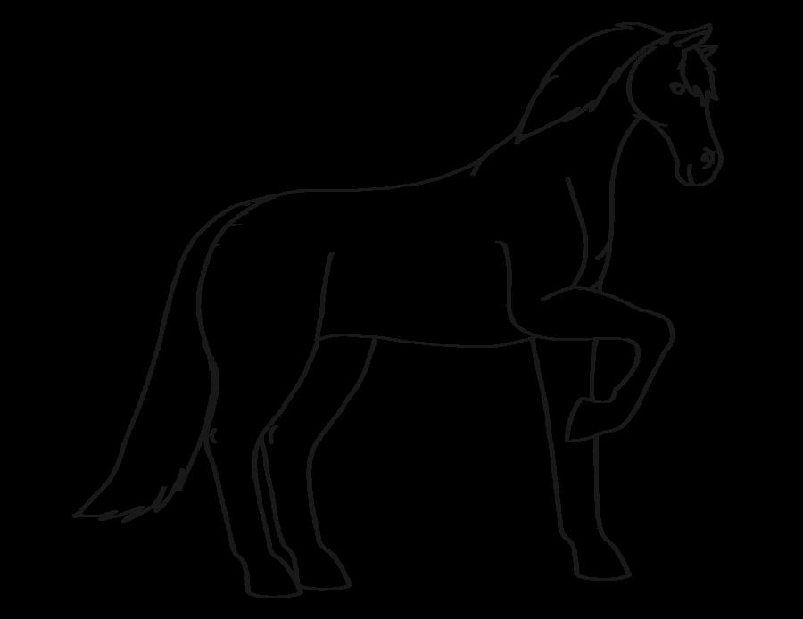 900x694 Horse Outline By Voidfox Comics