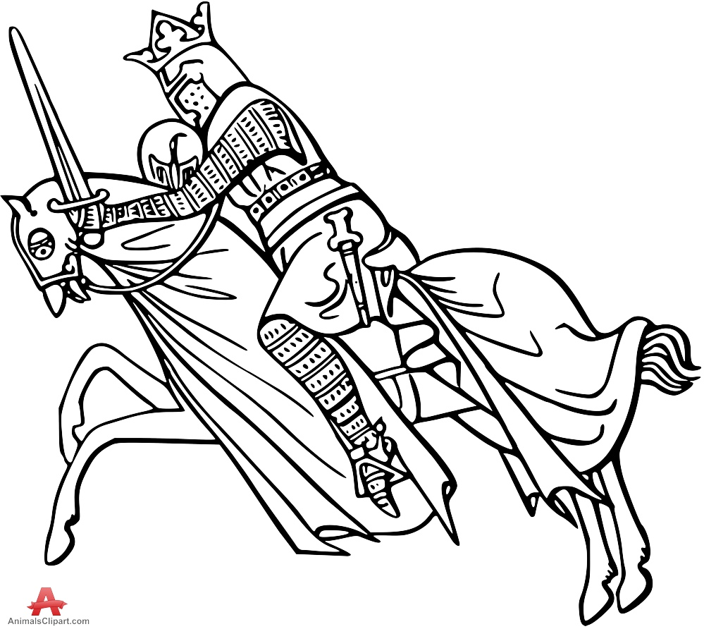 999x892 Outline Drawing Of Fighter On Horse Clipart Free Clipart Design