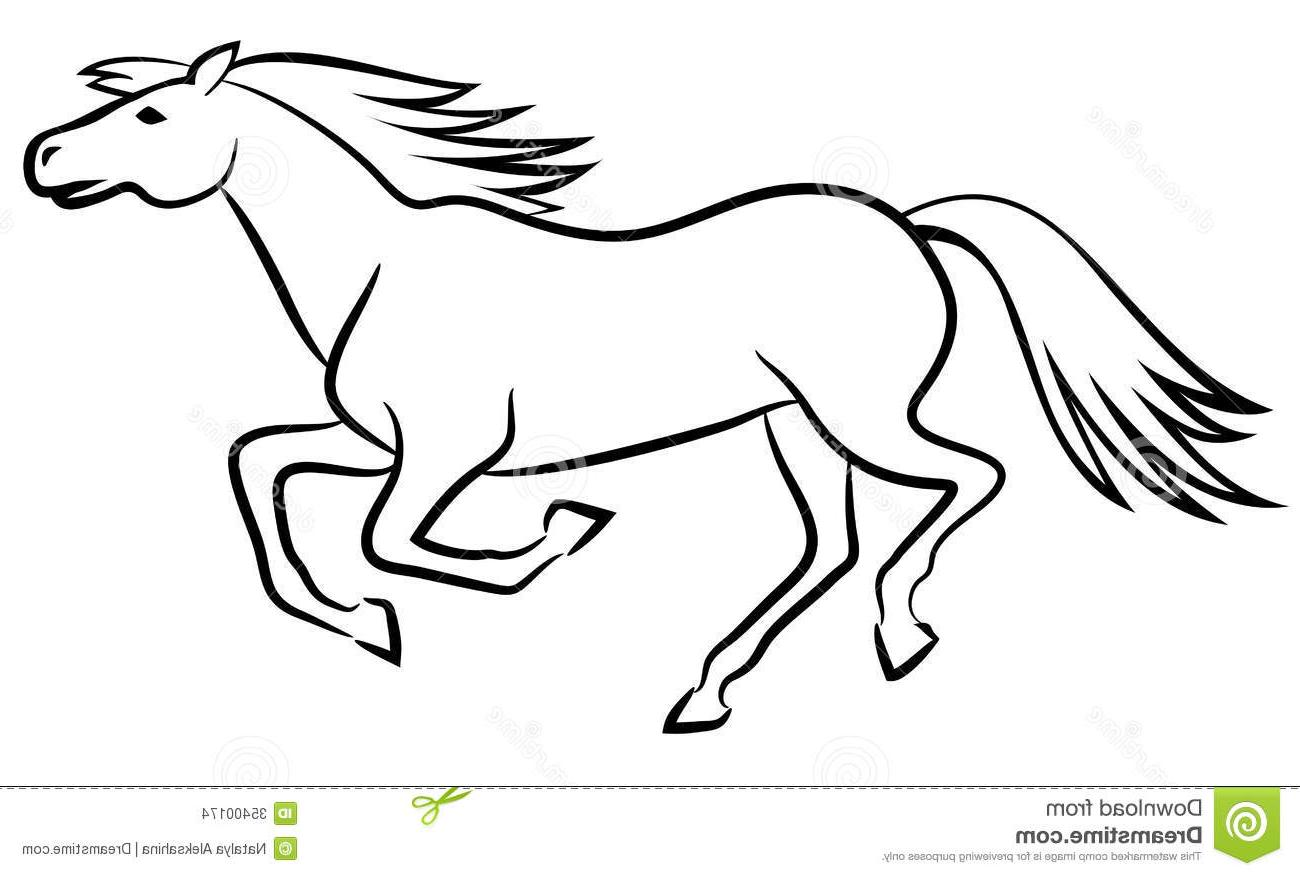 1300x876 Top 10 Horse Vector Outline Running Illustration Photos