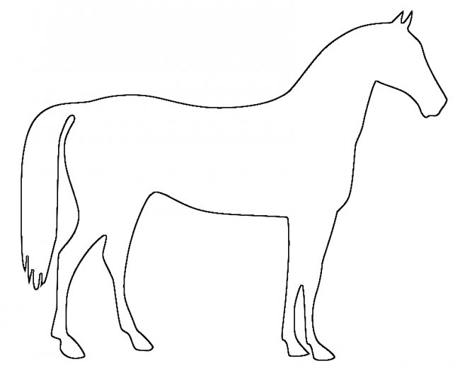 650x534 Best Photos Of Horse Outline Template
