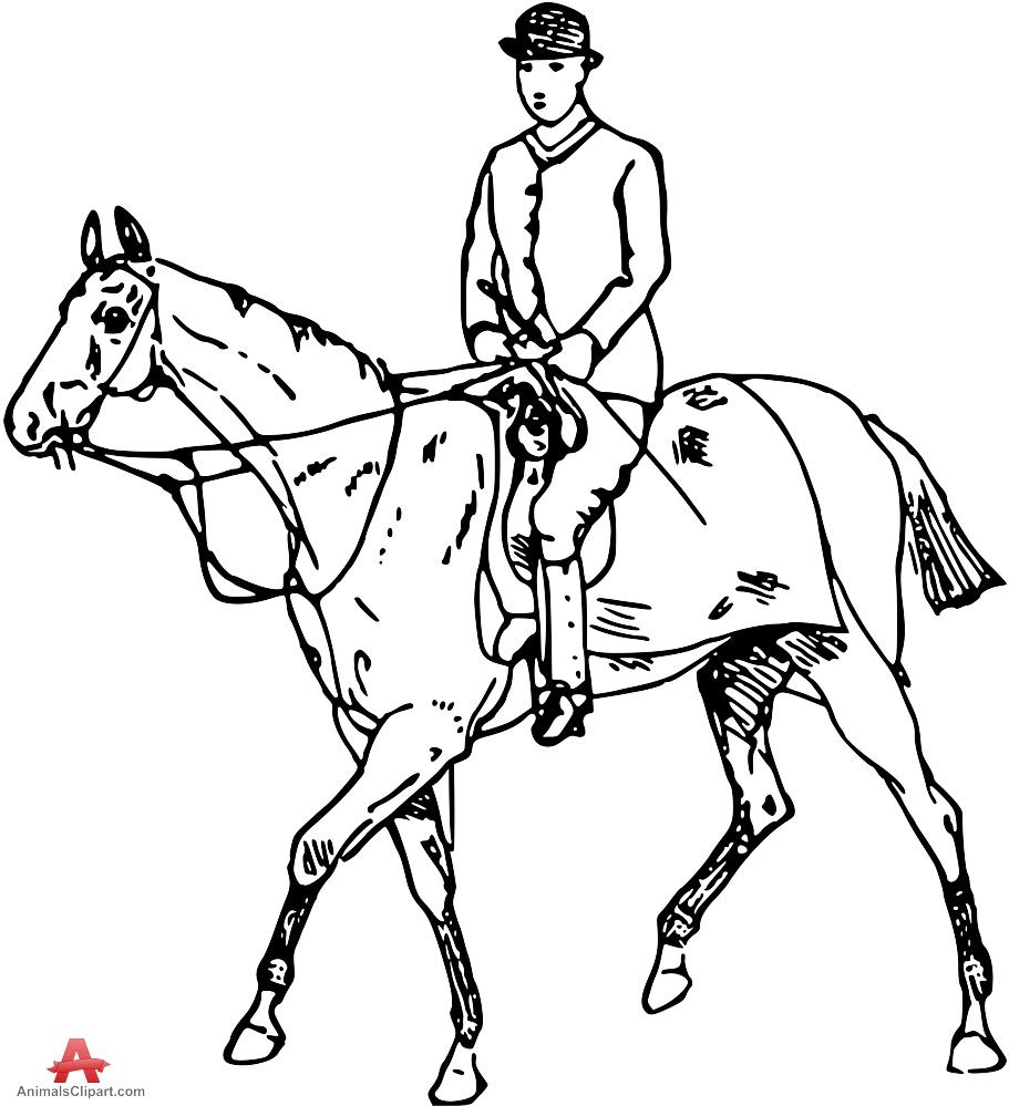 911x999 Riding A Horse Clipart