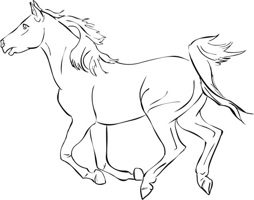 504x397 Horse Coloring Pages Free Get Out Your