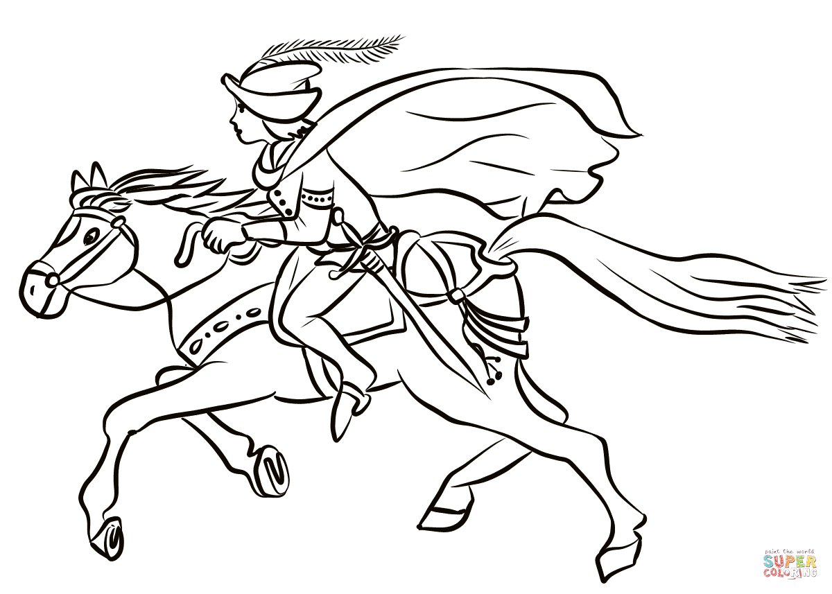 1200x857 Prince On Horse Coloring Page Free Printable Coloring Pages