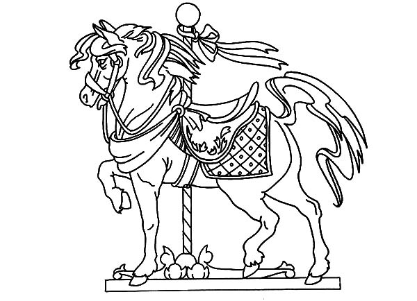600x434 Carousel Horse Standing Tall Coloring Pages Best Place To Color