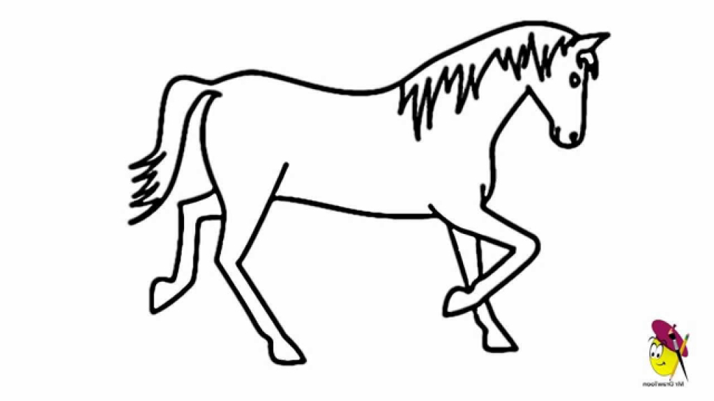 1024x576 Easy Horse Drawing Easy Drawing Of Horse Drawing Art Gallery