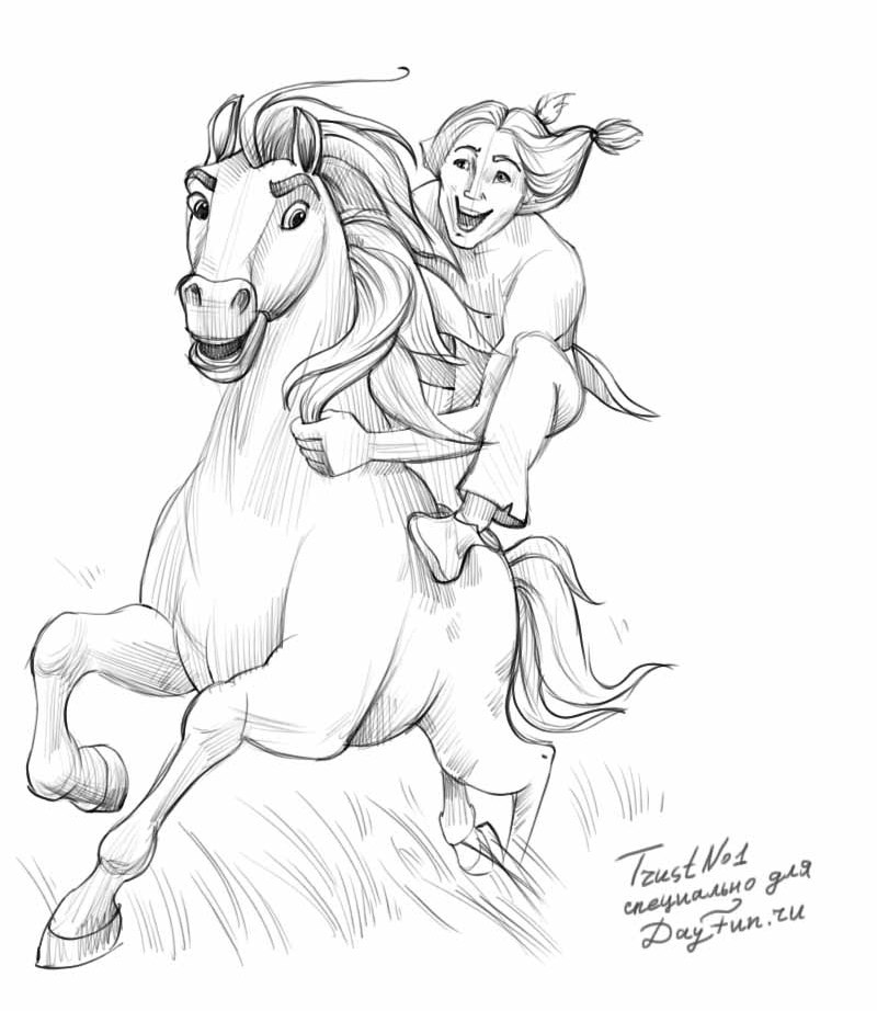 800x922 How To Draw Spirit The Stallion Of The Cimarron Step By Step