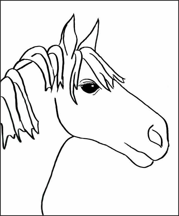 686x828 Easy Drawing Of A Horse U2fsb Unique Easy Horse Drawings In Pencil