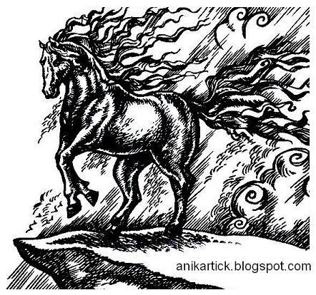 442x414 Horse