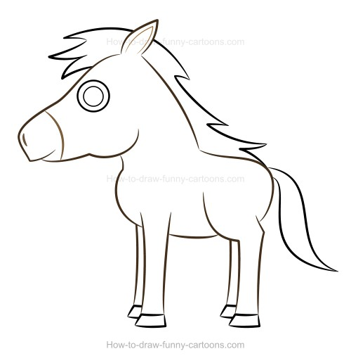 500x516 How To Draw A Horse