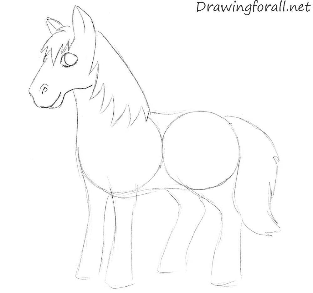 1000x936 Cartoon Horse Drawings Cartoon Horse Drawing Horse