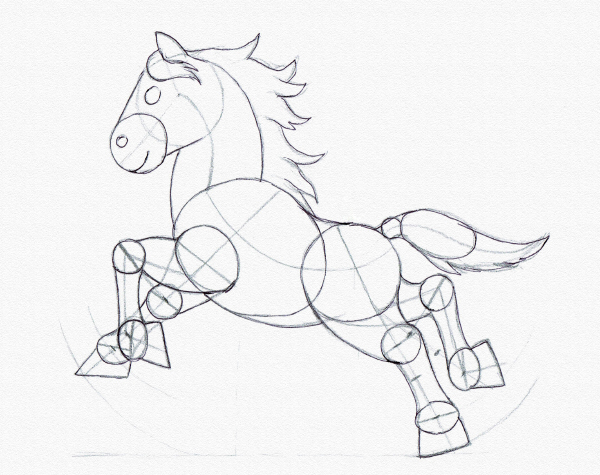 600x475 Drawing For Kids Draw A Running Pony