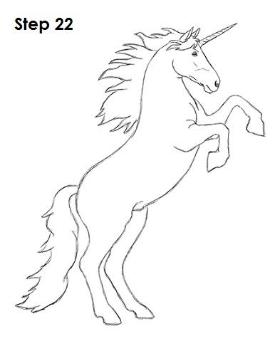 386x500 How To Draw A Unicorn